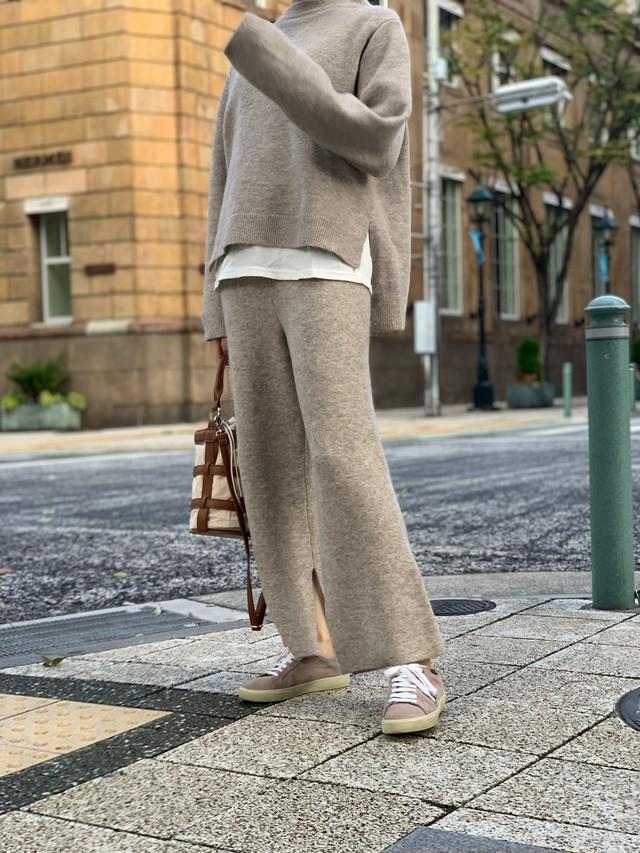 knit up pants / beige (即納)