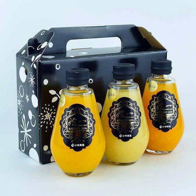 柑橘小瓶ジュース3本セット(みかん・媛一まどんな・河内晩柑)  愛媛・西宇和産100%ストレート 送料別