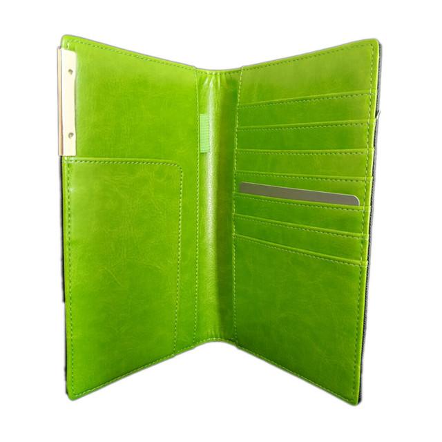 パスポートケース 航空券・カード・ペンなどまとめて入る トラベルオーガナイザー グリーン