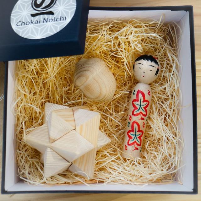 Chokai Noichi 木のおもちゃセット(A)