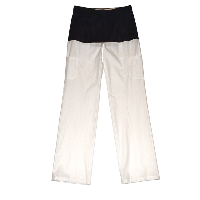 Raf Simons Pants with horizontal cut,pockets & suspenders