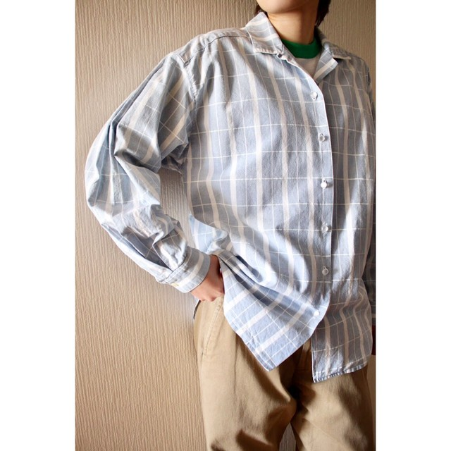 Vintage sax blue check shirt