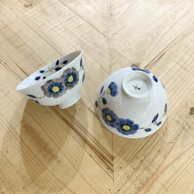 花枝紋  ご飯茶碗