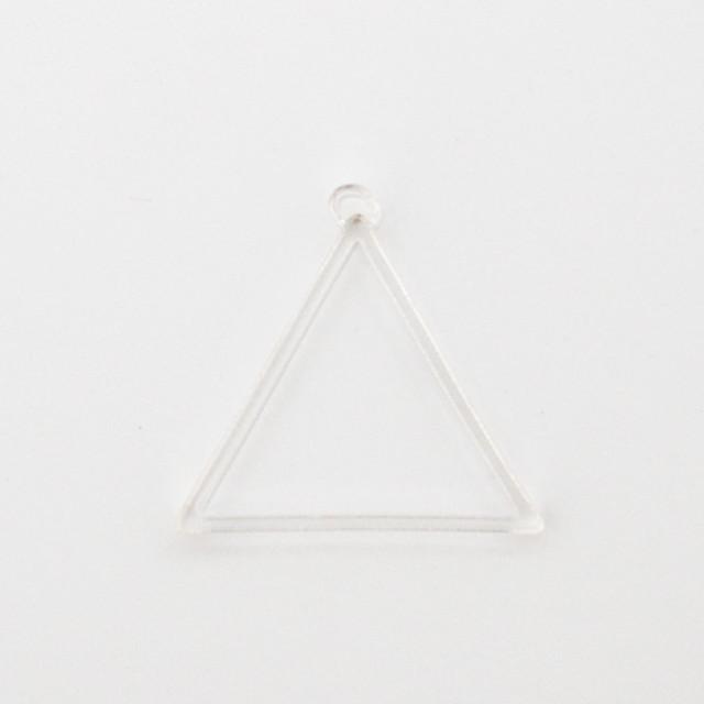 《三角》アクリル 空枠 透明 レジン