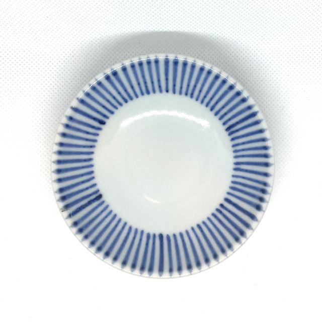【砥部焼/梅山窯】3寸小皿(十草)
