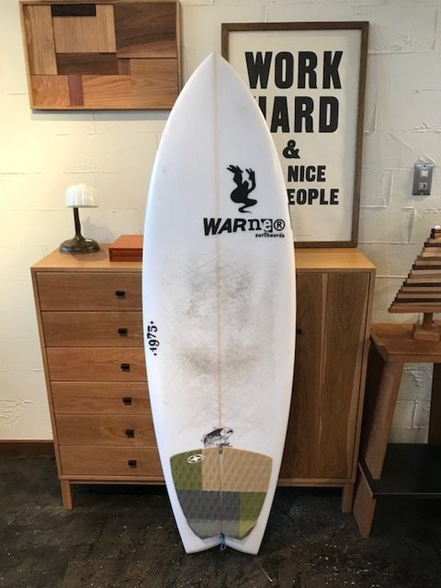 "USEDBOARD ZOMBIE FISH MODEL 5'7"" // WARNER SURFBOARDS"