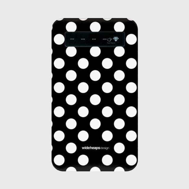 mobile-battery[Polka-dot] モバイルバッテリー microUSBケーブル(蓄電用コード)