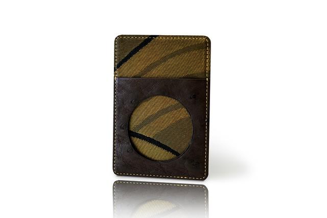 カードケース / 古代錦「波重ね」/ 黒b / OCC-KOD-M5-C2-7