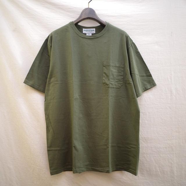 SASSAFRAS(ササフラス) / Chop Corner Pocket 1/2 T  -Olive-