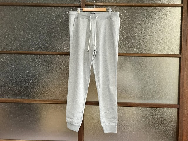 J.CREW SLIM FLEECE SWEAT PANTS (HEATHER GREY)