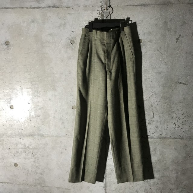 [used]cool color check pants