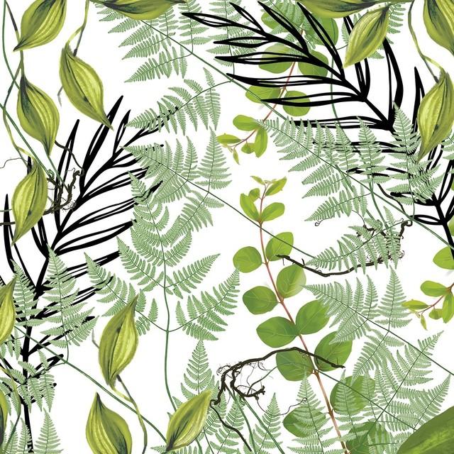 【Paperproducts Design】バラ売り2枚 ランチサイズ ペーパーナプキン Botanique ホワイト