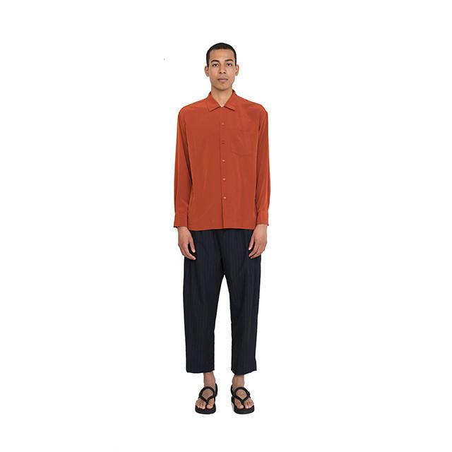 ベスト パック レーヨン ロング スリーブ シャツ Rayon L/S Shirt Orange BP18S-SH02-ORG Best Pack