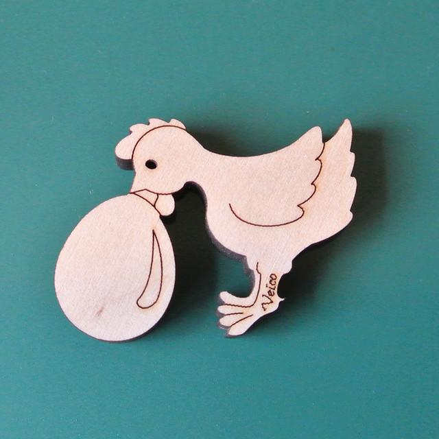 《鳥/にわとり》 ポットウォッチャー 鳥とたまご Veico ヴェイコ 北欧雑貨