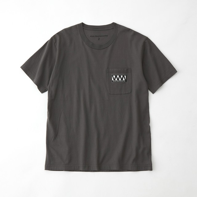 WM LOGO POCKET T-SHIRT - GRAY