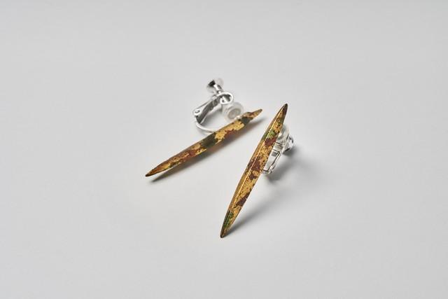 Silver950 イヤリング zuiun long / Silver clip-on earrings - zuiun long