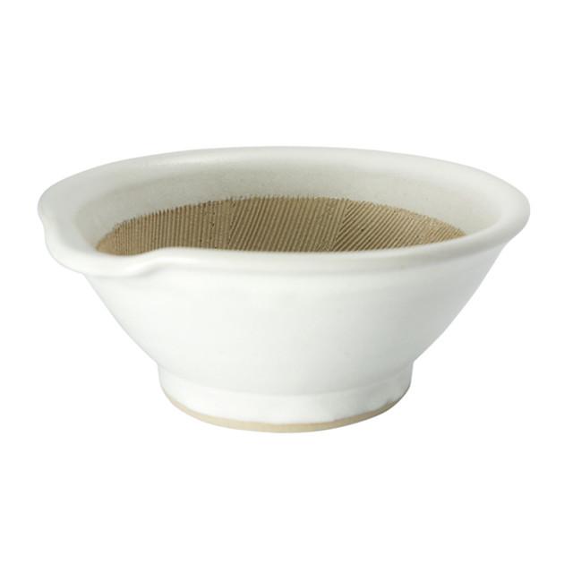 石州宮内窯 すり鉢5寸 白