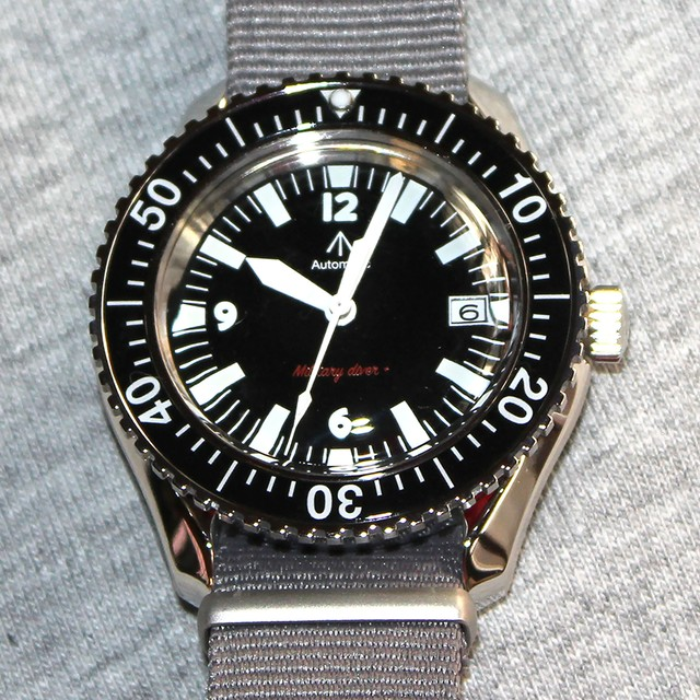 NAVAL MILITARY WATCH MIL.-05 SV/Gray Automatic ROYAL Military Diver TYPE
