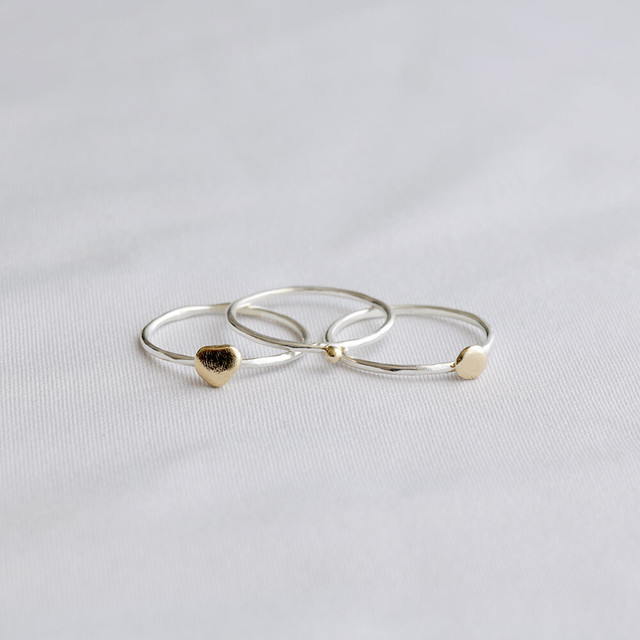 wave / wide ring (half)