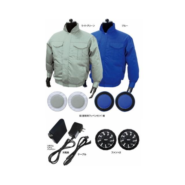 br-666 綿ポリ混紡 空調エアコン服 ノーマル / フルセット バッテリー ファンAタイプ付き 人気 空調服 涼しい作業服 仕事着 着心地抜群 [ブレ]
