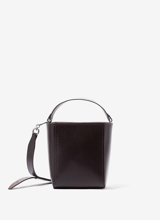 GLOSSY VACHETTA LEATHER MINI BUCKET BAG