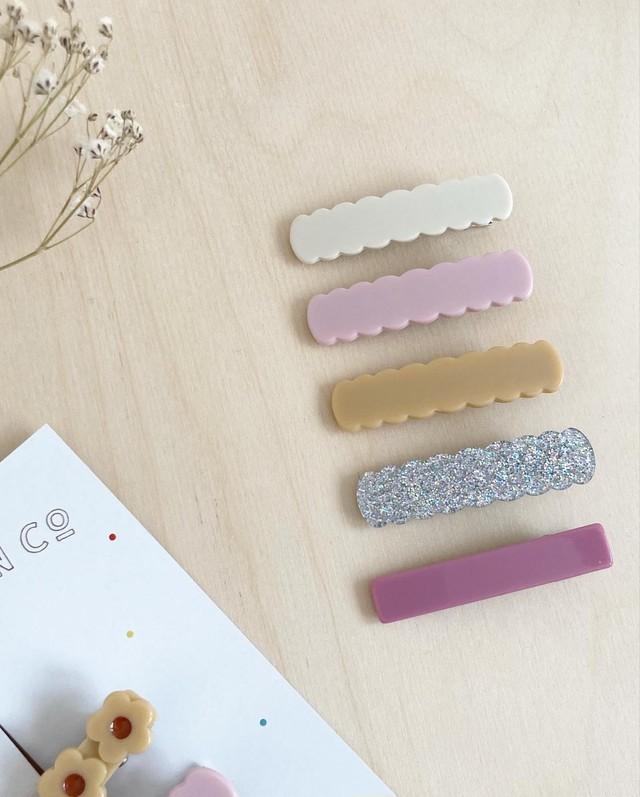 Scallop & Bar Clip (単品) / Wunderkin Co.
