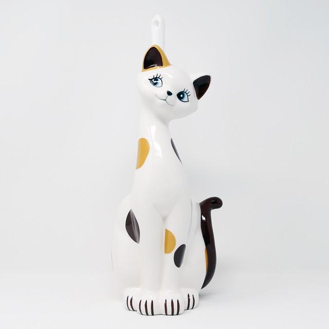 猫トイレブラシ(ユニークトイレブラシ立て)三毛猫