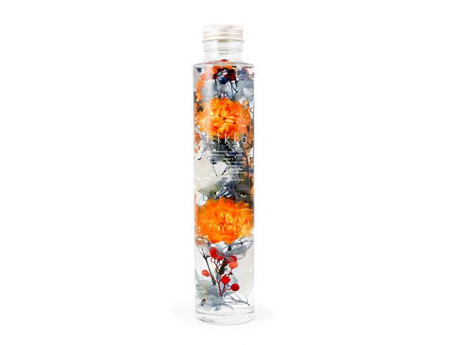 hikkaハーバリウム スリムボトル オレンジ