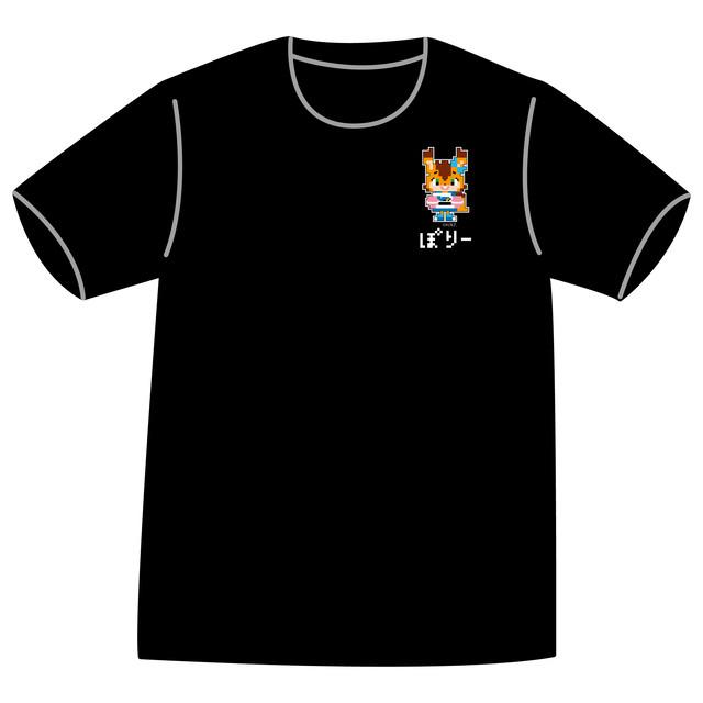 ドットファイターズ 「 ぽりー 」Tシャツ ブラック