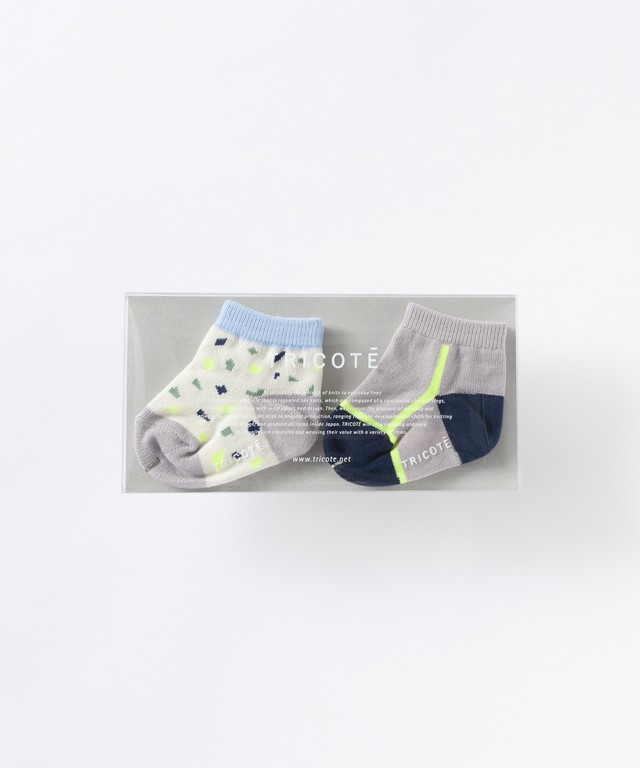 【TRICOTÉ】BABY TERRAZO SOCKS 2pieces : ボーイ