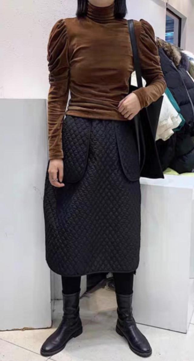 【アパレル・ボトムス】ポケット・キルティング・スカート