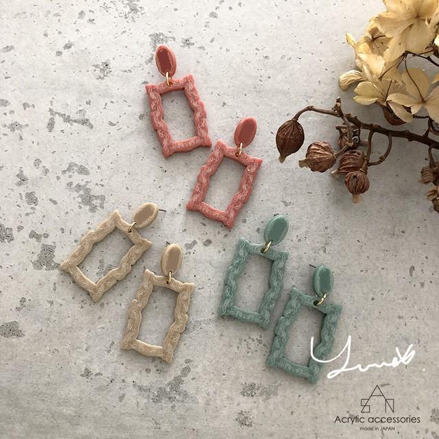 YU-U×sAn Cadre earring