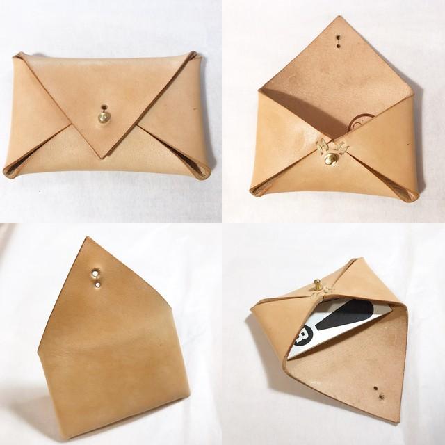 letter カードケース ヌメ革 フルタンニンなめし