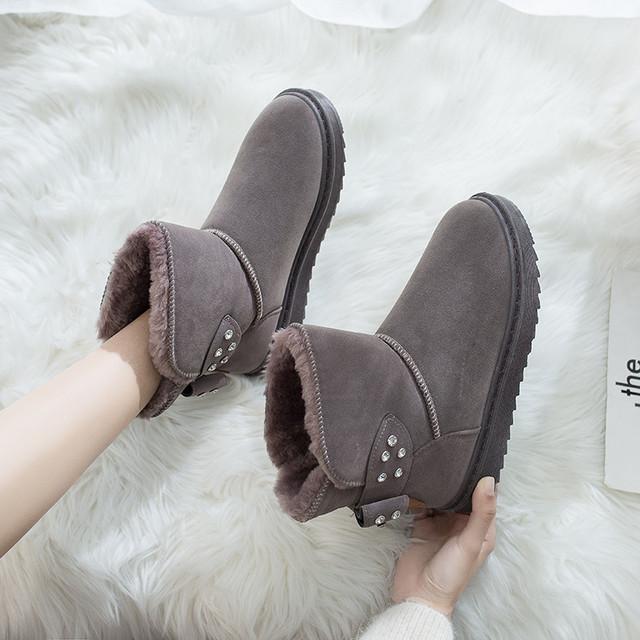 【shoes】スウィートリベット飾り気質あふれブーツ