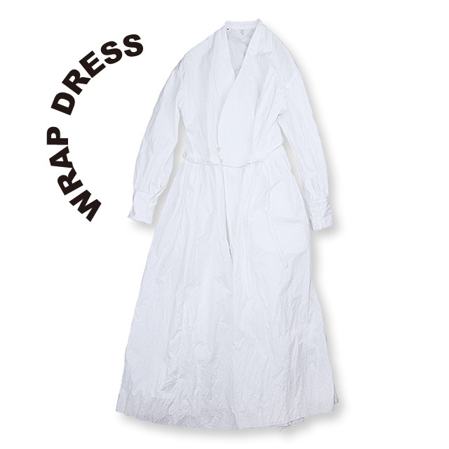 Wrap dress [White]