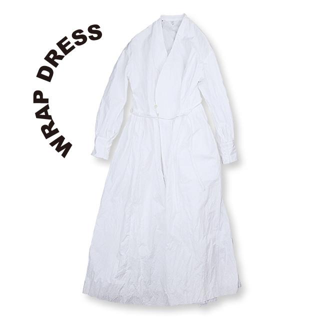 Wrap dress [White]