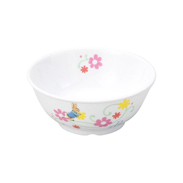 【1087-7130】ピーターラビット 強化磁器 11cm こども茶碗 フルール
