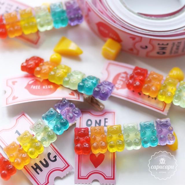 «即納y» gummy bear hair clips ベアーグミ ヘアクリップ