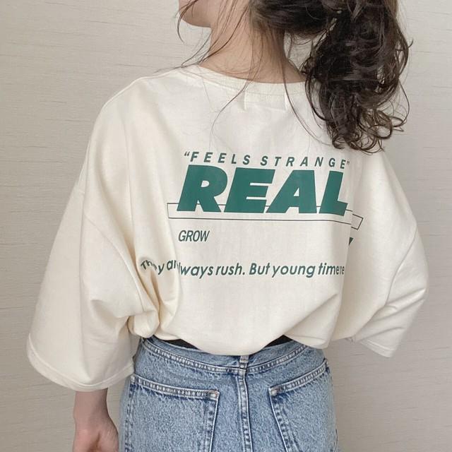 REAL logo T[4/19n-12]