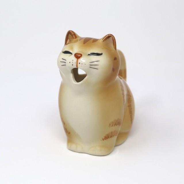 猫クリーマー(瀬戸焼ビクトリーカタログ)黄トラ
