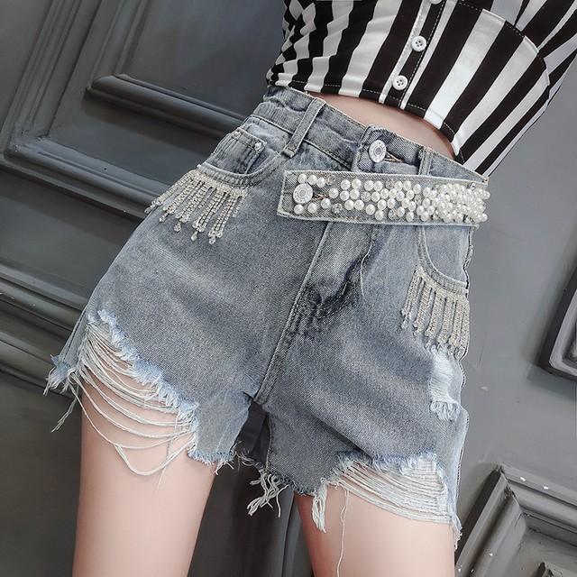 デニム ミニスカート風パンツ 短パン SHK431101