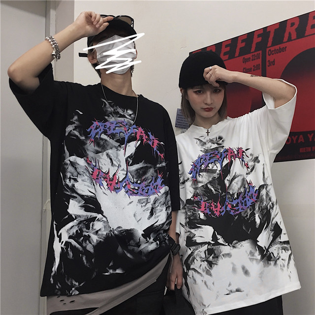 【トップス】「*ユニセック」暗黒系ストリート系プリントファッションTシャツ31927676