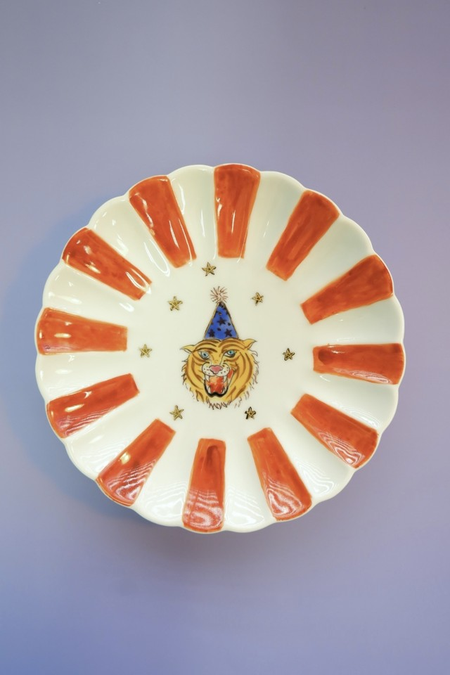 tiger circus / plate(15cm)