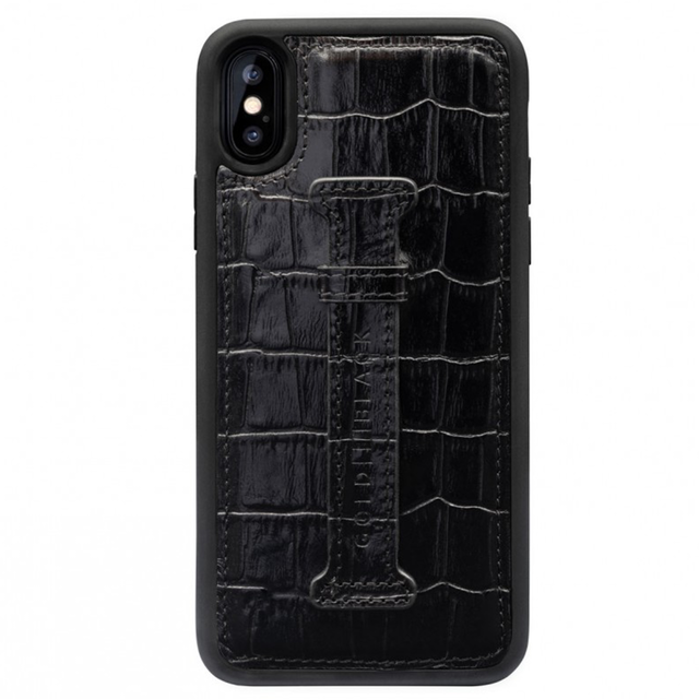 ゴールドブラック(GOLDBLACK) X / XS FINGER-HOLDER CASE CROCO BLACK