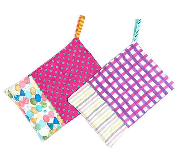 カラフルmixダブルガーゼ ふきん 台布巾 ぞうきん 雑巾 2枚セット_H