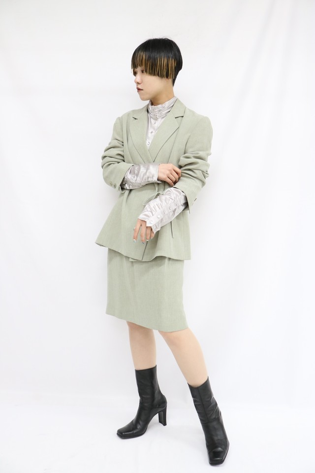 design tailored jacket tight skirt set up / 4SSOT19-07