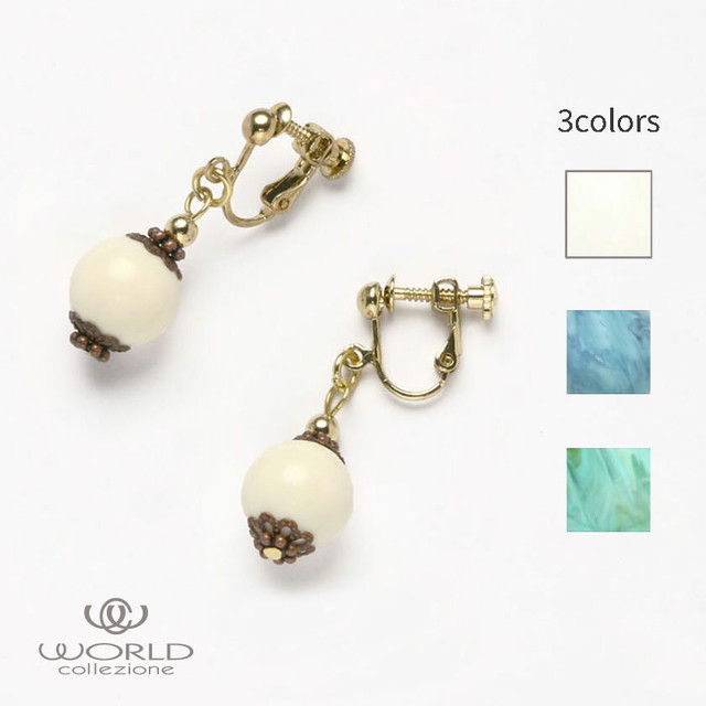 【worcolle】ボールパーツイヤリング(No.132644-45-46)