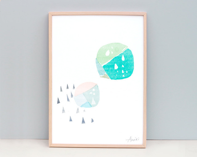 circles and triangles / A4 Geometric Art Prints