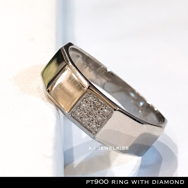 リング プラチナ ダイヤ pt900 ダイヤモンド リング 男女兼用 /  pt900 ring  with  diamonds