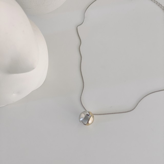 small ball necklace/silver